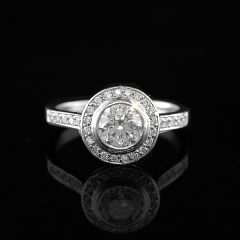 Pre-Owned Diamond Halo Ring