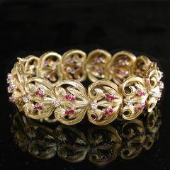 Vintage Ruby Bracelet