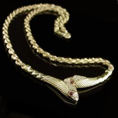Vintage Gold Serpent Necklace