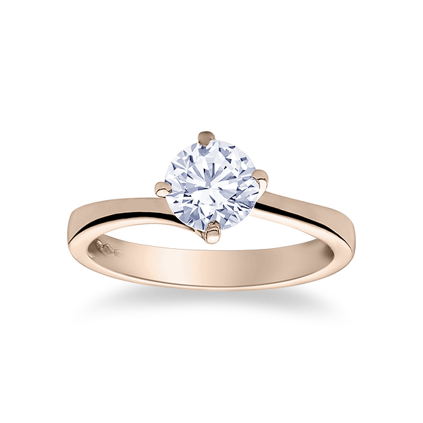 Diamond Solitaire Engagement Ring Spiral