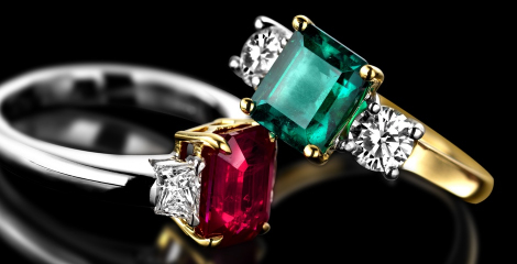 Vintage Coloured Gemstone Rings
