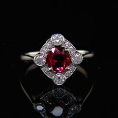 Edwardian style Ruby Ring