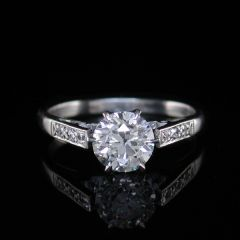 Vintage Solitaire Diamond Ring