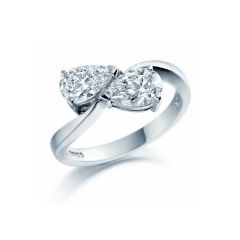 Duet Diamond Ring                                                                - Pear Cut