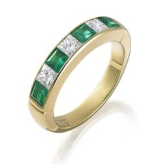 Emerald Anniversary Ring