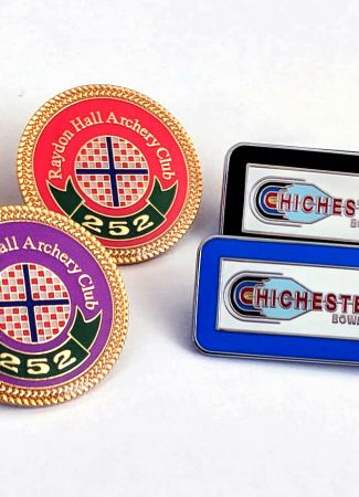 Archery Club Enamel Badge Sets