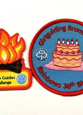 Embroidered and Woven Badges - recreating the Guiding Trefoil