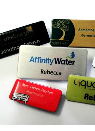 Name Badges with choice of attachments