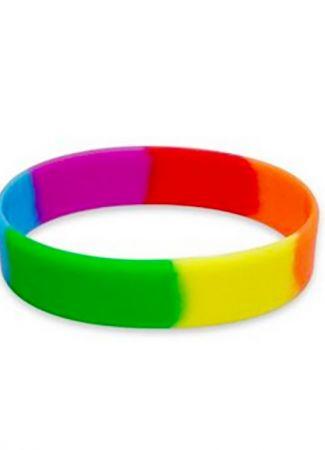 Rainbow Silicone Wristband
