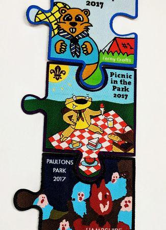 Woven Badge Set - Jigsaw Pieces