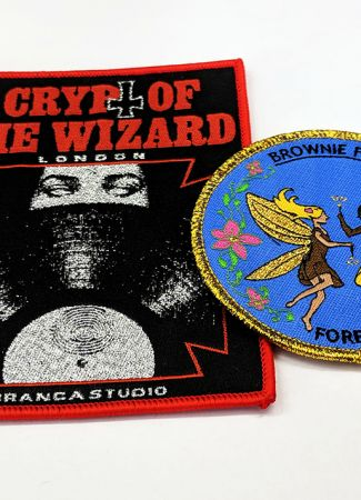 Woven Badges with Glitter Threads