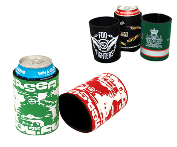 Can and Bottle Coolers - Printed neoprene holders