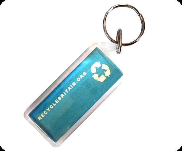 Acrylic Keyrings - 50mm x 20mm Lozenge