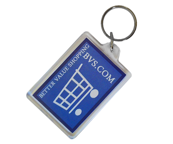 Acrylic Keyrings - 50mm x 35mm