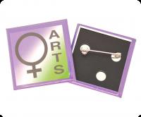 Full colour square button badge
