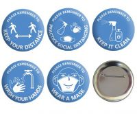 Set of 5 Covid Safety Badges