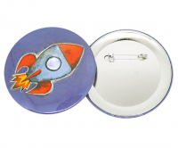77mm Colourful button badge