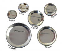 Size options 25mm, 32mm, 38mm, 45mm, 58mm, 77mm