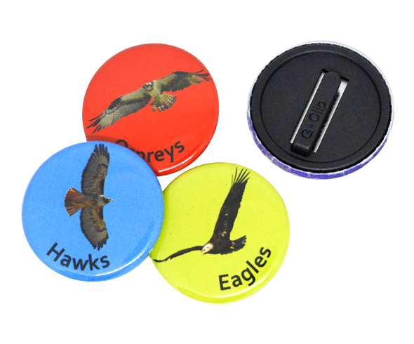 Custom Printed Pinless Button Badges