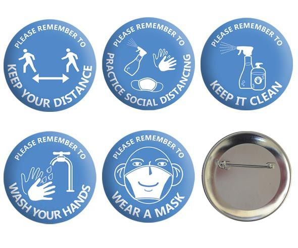 Covid Safety Badge Sets