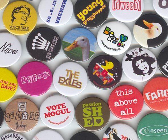 Unique Design Button Badges - every badge different