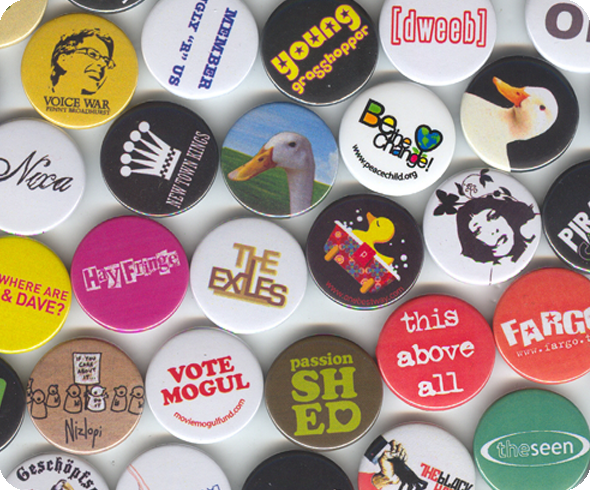 Unique Design Button Badges - every badge different