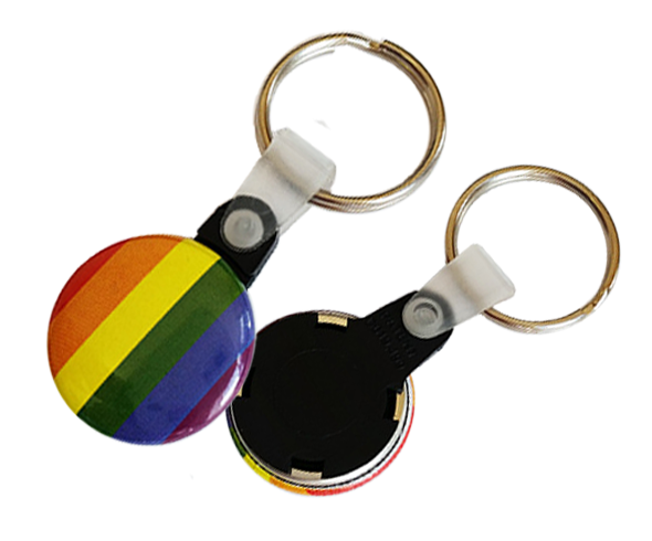 25mm Button Keyrings
