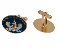 Enamel cufflinks with gold plating