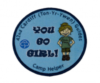 Colourful Girl Guiding badges
