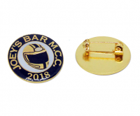 Premium soft enamel badge with gold plating