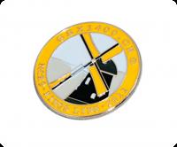 Premium soft enamel badge without epoxy
