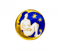 Soft enamel badge with gold plating
