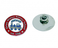 Traditional hard enamel badge with nickle plating