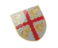 Traditional hard enamel badge with gold plating