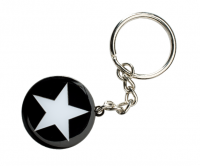 Soft enamel keyring with epoxy dome and polish