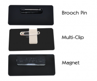Choose from brooch pin, multi-clip, or magnet fitting.
