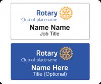 Rotary name badge layout