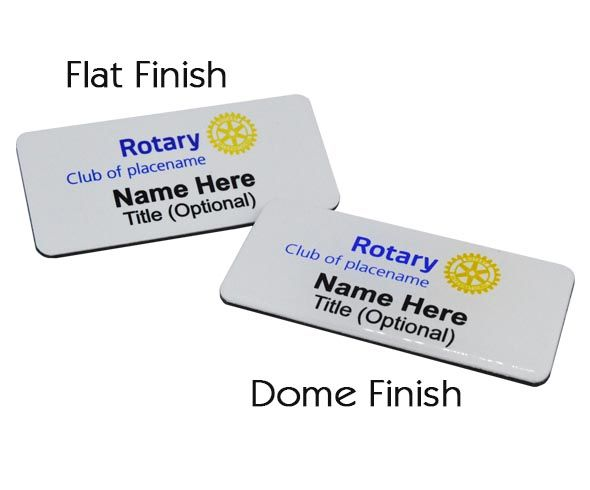 Rotary Name Badges