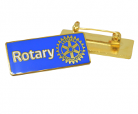 Blue enamel Rotary badge with a brooch pin