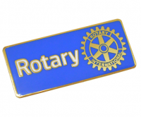Blue Gold plated Rotary badge