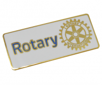 White Gold plated Rotary badge
