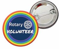 Rotary Volunteer button badge