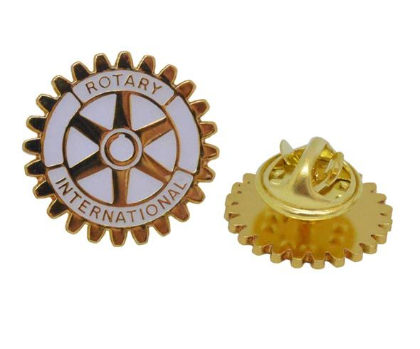 Rotary Wheel Lapel Badges