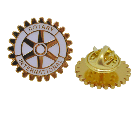 Rotary Wheel Lapel Badges