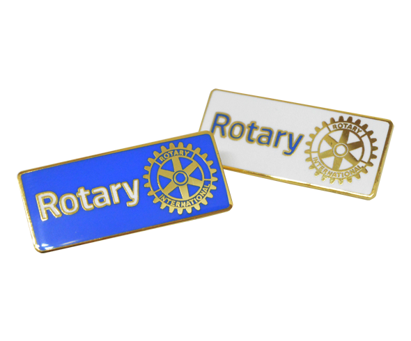 Rectangular Rotary Lapel Badges