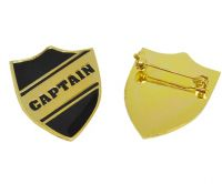 Shield Captain badge with brooch pin