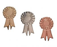 Rosette Badges in Gold, Silver and Bronze