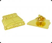Gold word millionaire badges