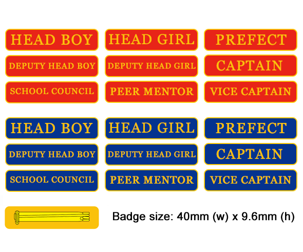 School Bar Badges