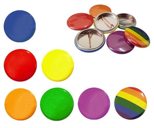 School House Colour Button Badges